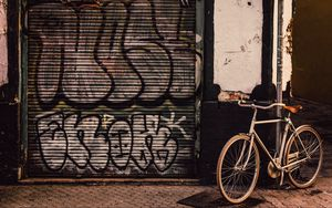 Preview wallpaper bicycle, street, walls