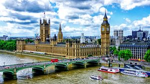 Preview wallpaper big ben, london, palace of westminster, bridge, river, thames, boats, hdr