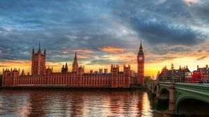 Preview wallpaper big ben, thames, city, palace of westminster, london, river, hdr