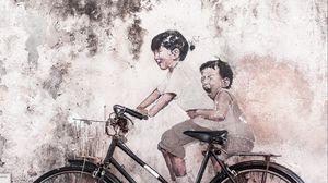 Preview wallpaper bike, art, funny