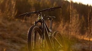Preview wallpaper bike, mtb, black, nature