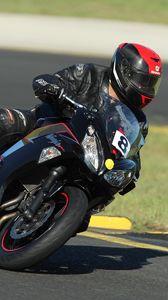 Preview wallpaper biker, motorcycle, racing