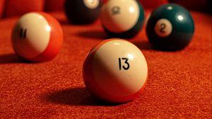Preview wallpaper billiard balls, balls, billiards, numbers