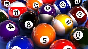 Preview wallpaper billiards, ball, number