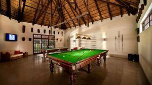 Preview wallpaper billiards, interior, style, billiard cue, ball, table, sofa, tv, bathroom