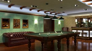Preview wallpaper billiards, room, table, game