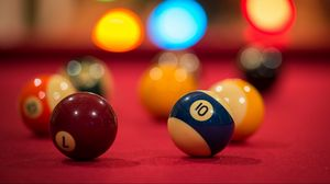 Preview wallpaper billiards, table, colorful, game