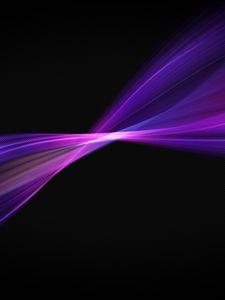 Preview wallpaper black, background, line, violet, color, graphics