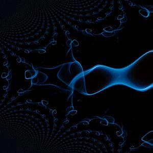 Preview wallpaper black background, smoke, line, abstraction