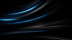 Preview wallpaper black, blue, abstract, stripes