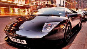Preview wallpaper black, car, style, comfort, sport, lamborghini murcielago