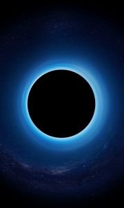 Preview wallpaper black hole, eclipse, stars, singularity, planet, space