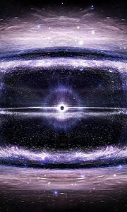 Preview wallpaper black hole, space, stars, circles, universe