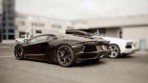 Preview wallpaper black, stylish, cars, lamborghini