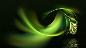 Preview wallpaper black, white, abstract, pen, water, green