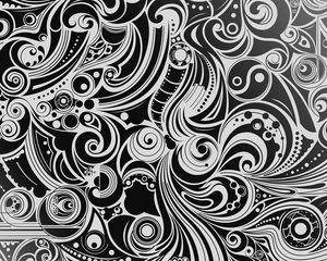 Preview wallpaper black, white, pattern, shape, patterns