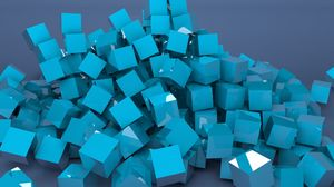 Preview wallpaper blocks, lots, color, metallic blue