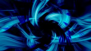 Preview wallpaper blue, black, abstract, brush