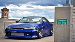 Preview wallpaper blue, car, nissan silvia, beautiful, chuck, nissan