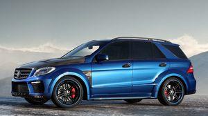 Preview wallpaper blue, mercedes, cars