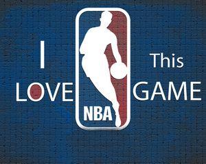 Preview wallpaper blue, nba, background, basketball, logo