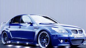 Preview wallpaper blue, wheels, bmw