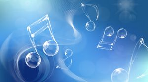 Preview wallpaper blue, white, music, shapes