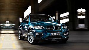 Preview wallpaper blue, x6, cool car, bmw, 35i, limber, xdrive, iks6, jeep