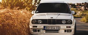 Preview wallpaper bmw, 325i, e30, white, auto