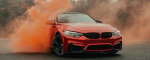 Preview wallpaper bmw, car, bumper, red, front view