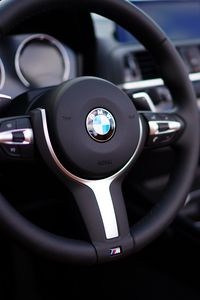Preview wallpaper bmw, car, steering wheel