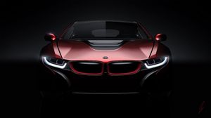 Preview wallpaper bmw, i8, concept, front view