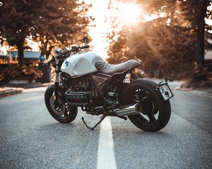 Preview wallpaper bmw k100, motorcycle, bike, side view