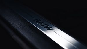 Preview wallpaper bmw, logo, inscription, car