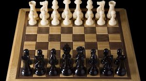 Preview wallpaper board, game, chess, party, figures, black, white