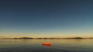 Preview wallpaper boat, bay, horizon, guanabara bay, rio de janeiro, brazil