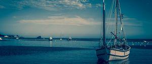 Preview wallpaper boat, harbor, sea