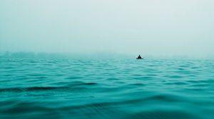 Preview wallpaper boat, sea, alone, solitude