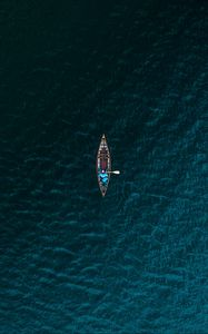 Preview wallpaper boat, sea, view from above, water