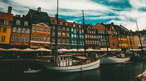 Preview wallpaper boats, buildings, sea, copenhagen, denmark