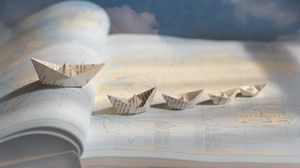 Preview wallpaper boats, ships, paper, origami