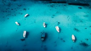 Preview wallpaper boats, yachts, aerial view, ocean