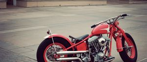 Preview wallpaper bobber, vintage, motorcycle, red
