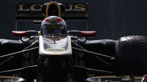 Preview wallpaper bolide, racer, grand prix, helmet