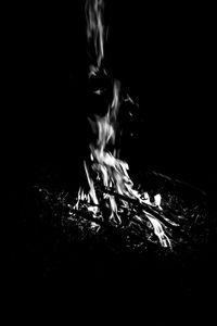 Preview wallpaper bonfire, fire, flame, black and white, black