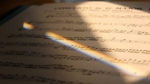 Preview wallpaper sheet music, rainbow, ray, music