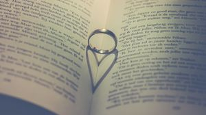 Preview wallpaper book, ring, heart, love