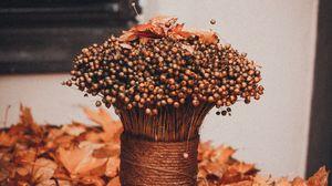 Preview wallpaper bouquet, bunch, dry, foliage, autumn