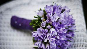 Preview wallpaper bouquet, flower, purple