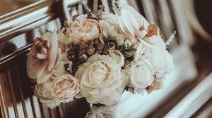 Preview wallpaper bouquet, flowers, composition, piano